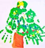 arbete för tree för konstbarn s vektor illustrationer