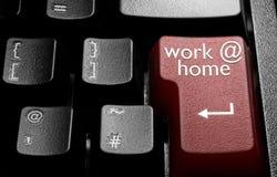 Arbete hemma arkivbild