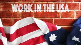 Arbete i USA Arkivfoto