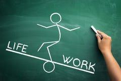 Arbete och livjämviktsbegrepp Arkivfoto