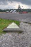 Arbete på den minnes- stenen i 102.000 läger Westerbork Royaltyfri Fotografi