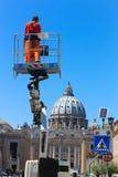 Arbete på Rome Arkivfoto