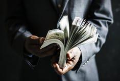 Arbete Rich Success för pengaraffär Arkivbild