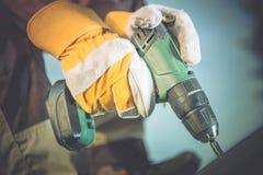 Arbeten för drillborrvapenträ Royaltyfria Foton