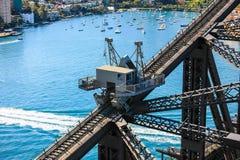 Arbeten på Sydney Harbour Bridge, Australien Arkivbilder