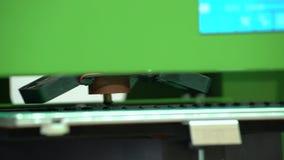 Arbetena för skrivare 3D stock video