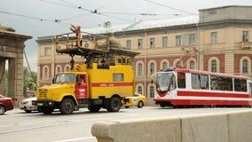 Arbetet av räddningstjänsterna royaltyfri bild