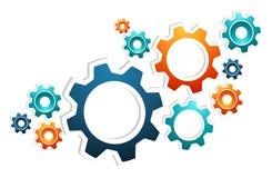 Arbetet utrustar teamwork vektor illustrationer