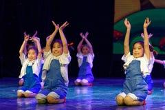 Arbets- akademi för härlighetPekingdans som graderar för barn` s för prov den utstående utställningen Jiangxi för prestation för  Royaltyfri Bild