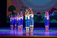 Arbets- akademi för härlighetPekingdans som graderar för barn` s för prov den utstående utställningen Jiangxi för prestation för  Arkivbilder
