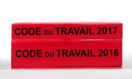 Arbets- kodbok för ny tunnare franska, arbets- kodlagreform i det Frankrike begreppet Arkivbilder