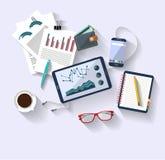 Arbetsbegrepp - affärsidé - plan design - bästa sikt royaltyfri illustrationer
