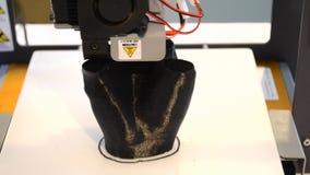 arbetscloseup för skrivare 3D arkivfilmer