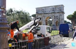 Arbetsdagar Rome Royaltyfri Bild