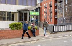 Arbetsförmedling plus raden Birmingham för sommar 65-77 Royaltyfria Foton