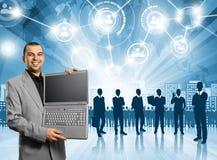 Arbetsgivare för affärsman Arkivbild