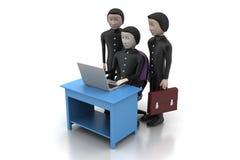 Arbetsgivare och sökande, jobb som hyr begrepp Royaltyfria Bilder