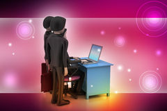 Arbetsgivare och sökande, jobb som hyr begrepp Royaltyfri Fotografi