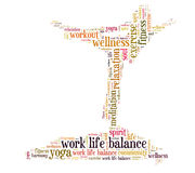 Arbetsliv balanserar Arkivfoto