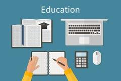 arbetsplats Ändlös utbildning Utbildning och direktanslutet vektor illustrationer