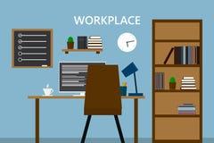 Arbetsplats i gammalt hem- rum Stilfull och gammal inre Kvalitetsdes arkivfoton