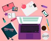 Arbetsplatskvinnor Fotografering för Bildbyråer