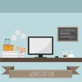 Arbetsstation royaltyfri illustrationer
