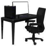 Arbetsstation, kontorsskrivbord Arkivfoton