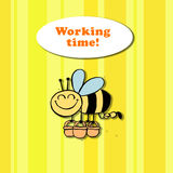 Arbetstid! royaltyfri illustrationer