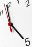 Arbetstid för affär för visning för klockaframsida Royaltyfri Bild