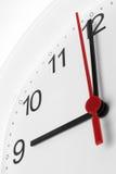 Arbetstid för affär för visning för klockaframsida Royaltyfri Fotografi