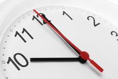 Arbetstid för affär för visning för klockaframsida Arkivbild
