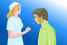 arbetsuppgiftsjukhussjuksköterska Royaltyfri Bild