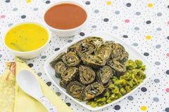 Arbi bhajiya or patra Royalty Free Stock Image