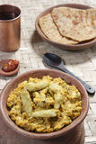 Arbi Ka Saag - A dish made from Colocasia. Arbi Ka Saag is prepared from Arbi (colocassia root) cooked with fresh Indian spices. Served with Roti and (Indian Royalty Free Stock Photos