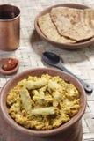 Arbi Ka Saag - un plat fait à partir du Colocasia Photos libres de droits