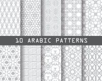 10 arbic modeller vektor illustrationer