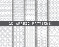 10 arbic patterns 3. 10 arabic patterns,  Pattern Swatches, vector, Endless texture can be used for wallpaper, pattern fills, web page,background,surface Royalty Free Stock Image