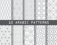 10 arbic patterns. 10 arabic patterns,  Pattern Swatches, vector, Endless texture can be used for wallpaper, pattern fills, web page,background,surface Stock Image