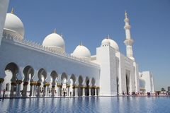 Arabica greatness Sheikh Zayed Grand Mosque. The project was launched by the late president of the United Arab Emirates (UAE), Sheikh Zayed bin Sultan Stock Images
