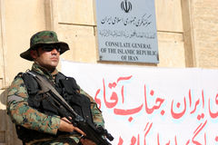 Arbil İran consulate Stock Image