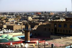 arbil stad royaltyfria bilder