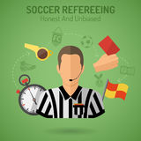 Arbitraje del fútbol Fotos de archivo