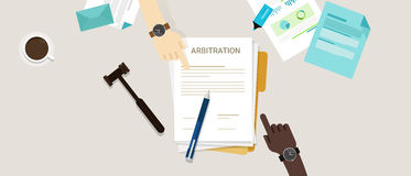 Arbitration law dispute legal resolution conflict Stock Photos