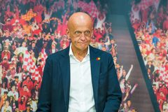 Arbitre célèbre du football de Pierluigi Collina Photo libre de droits