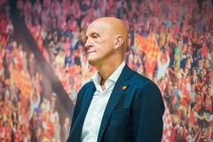 Arbitre célèbre du football de Pierluigi Collina Photographie stock libre de droits