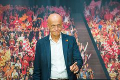 Arbitre célèbre du football de Pierluigi Collina Photos stock