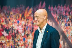 Arbitre célèbre du football de Pierluigi Collina Photos libres de droits