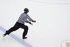 Arbitre d'hockey Photos libres de droits