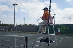 Arbitre de chaise de tennis Image stock